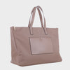Izzy and Ali Vegan Leather Handbags - Weekender Carryall Tote Taupe