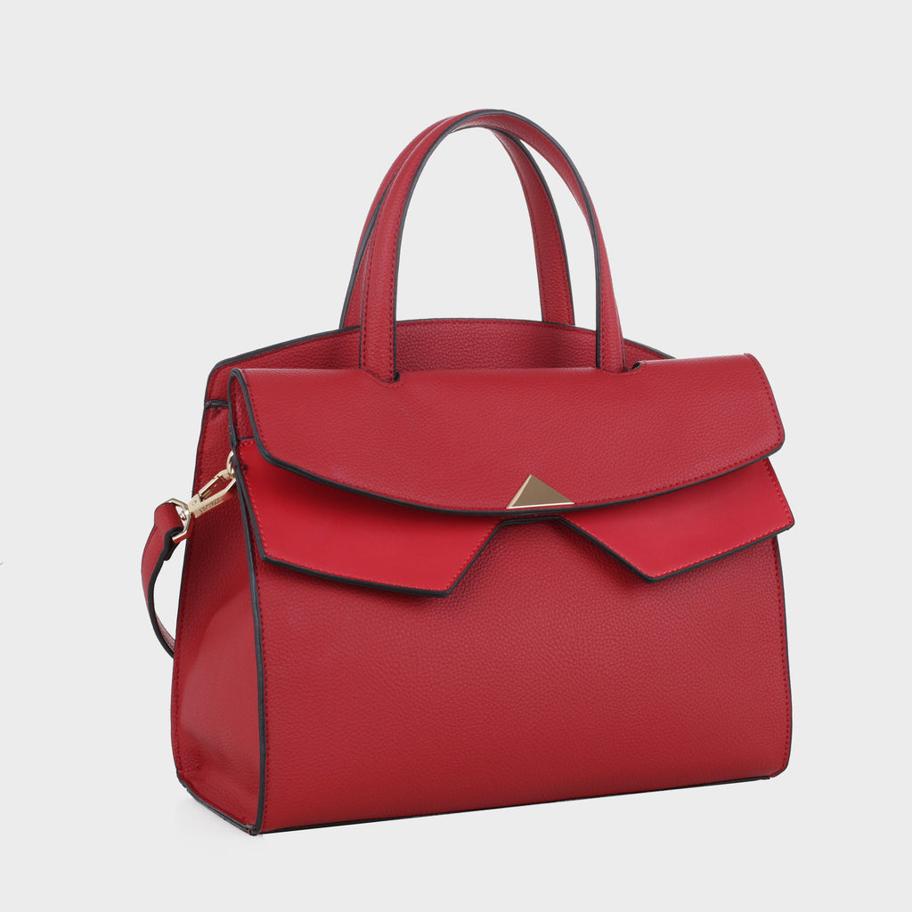 Izzy and Ali Vegan Leather Handbags - Venice Tote in red