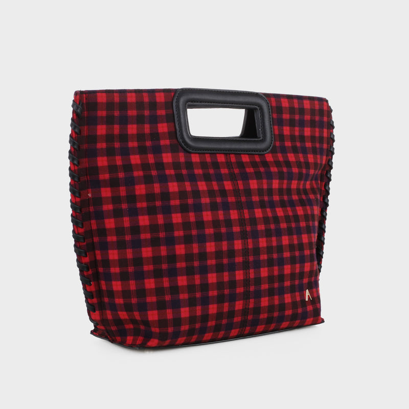 Izzy and Ali Vegan Leather Handbags - Pisa Plaid Clutch
