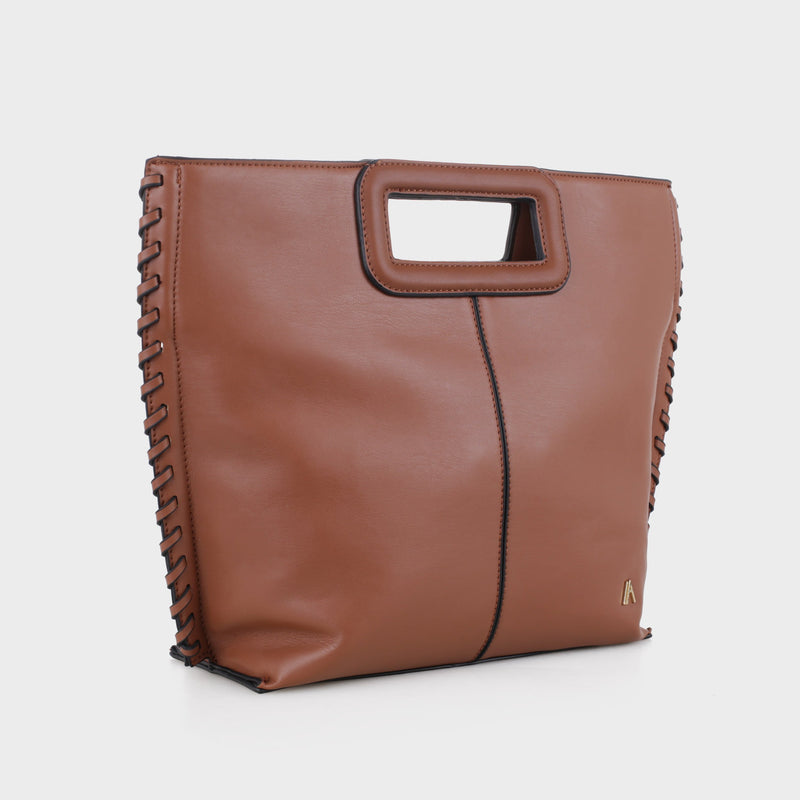 Izzy and Ali Vegan Leather Handbags - Pisa Clutch in luggage