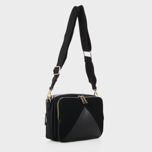 Izzy and Ali Vegan Leather Handbags - Monza Crossbody in black