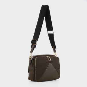 Izzy and Ali Vegan Leather Handbags - Monza Crossbody in olive