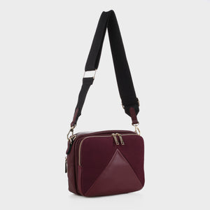 Izzy and Ali Vegan Leather Handbags - Monza Crossbody in wine