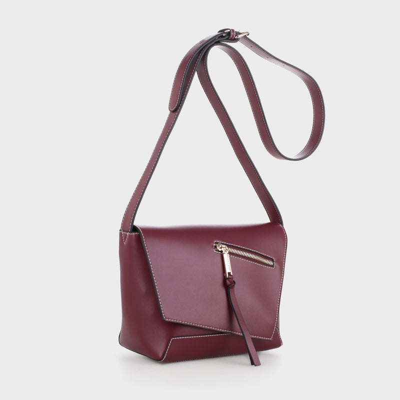 Izzy and Ali Vegan Leather Handbags - Taranto Crossbody Wine