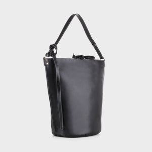 Izzy and Ali Vegan Leather Handbags - Prato Shoulder in black