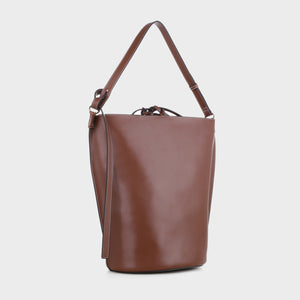 Izzy and Ali Vegan Leather Handbags - Prato Shoulder in brown