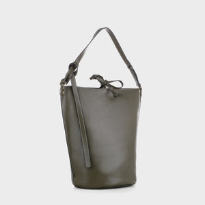 Izzy and Ali Vegan Leather Handbags - Prato Shoulder in olive