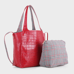 Izzy and Ali Vegan Leather Handbags - Palermo Tote Red