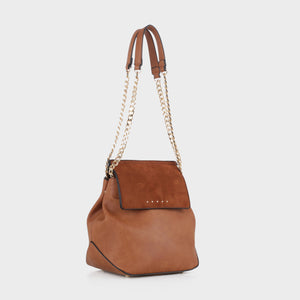 Izzy and Ali Vegan Leather Handbags - Carly Shoulder in luggage
