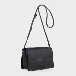 Izzy and Ali Vegan Leather Handbags - Parma Crossbody in black