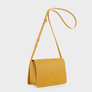Izzy and Ali Vegan Leather Handbags - Parma Crossbody in mustard
