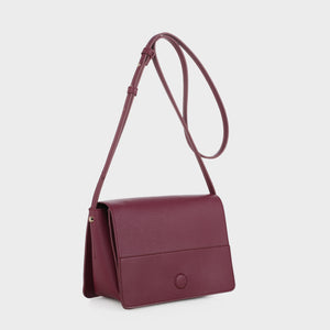 Izzy and Ali Vegan Leather Handbags - Parma Crossbody in wine