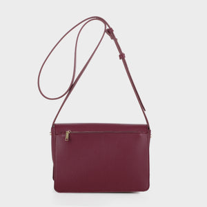 Izzy and Ali Vegan Leather Handbags - Back of Parma Crossbody