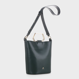 Izzy and Ali Vegan Leather Handbags - Capri Tote in forest green