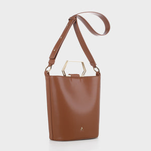 Izzy and Ali Vegan Leather Handbags - Capri Tote in luggage