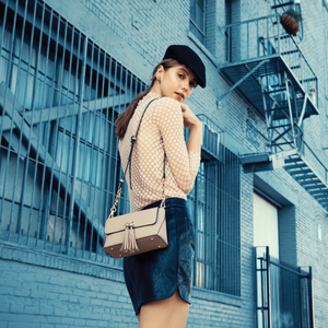 Izzy and Ali Vegan Leather Handbags - Ali Crossbody Editorial