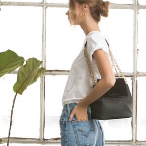 Izzy and Ali Vegan Leather Handbags - Carly Satchel Editorial