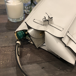 Izzy and Ali Vegan Leather Handbags - Catskill Drawstring Interior