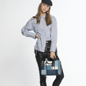 Izzy and Ali Vegan Leather Handbags - Clorinda Satchel Editorial