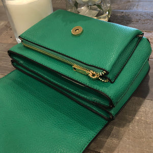 Izzy and Ali Vegan Leather Handbags - Cory Crossbody Interior