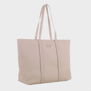 Izzy and Ali Vegan Leather Handbags - Dimitri Tote EW in taupe