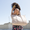 Izzy and Ali Vegan Leather Handbags - Dimitri Tote EW Editorial