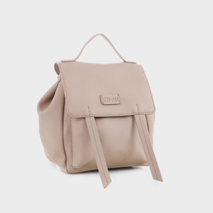 Izzy and Ali Vegan Leather Handbags - Dimitri Backpack in dark taupe