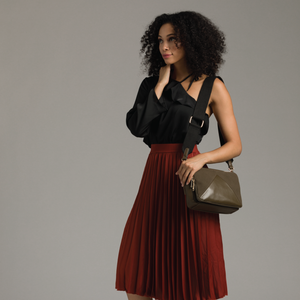 Izzy and Ali Vegan Leather Handbags - Monza Crossbody Editorial