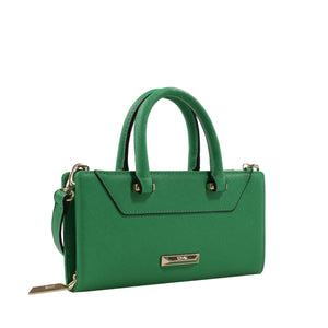 Izzy and Ali Vegan Leather Handbags - Chic Wallet Clutch Green