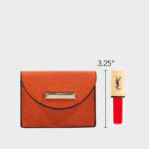 Izzy and Ali Vegan Leather Handbags - Turin Cardholder in orange
