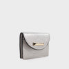 Izzy and Ali Vegan Leather Handbags - Turin Cardholder in silver