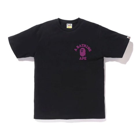 Color Camo College ATS Tee Negra/Violeta by BAPE - GreenShineCBD