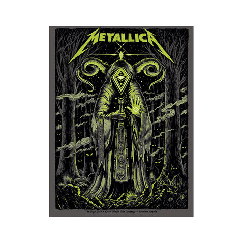 Metallica Barcelona Glow in the Dark by Jeff Soto - GreenShineCBD