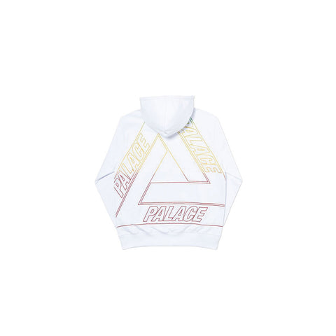 Linear Triple Fade Hood White by Palace - GreenShineCBD