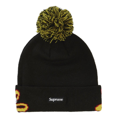 Supreme New Era Script Cuff Beanie Black - GreenShineCBD