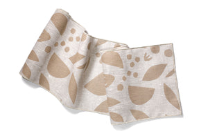 'Decon Floral' Table Runner in Metallic Neutral