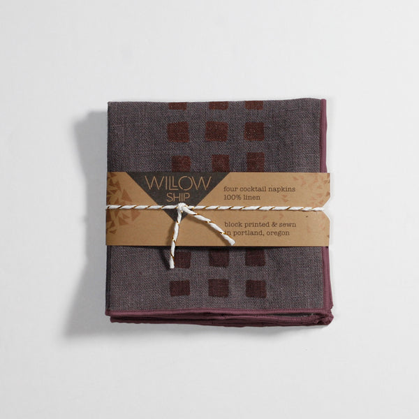 'Weave' Cocktail Napkins  - Set of 4