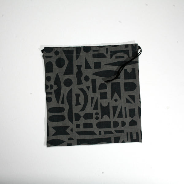 'Mixta' Block Printed Linen Project Bag