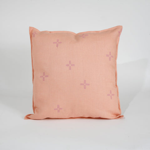 'Hana' Block Printed Linen Accent Pillow Cover
