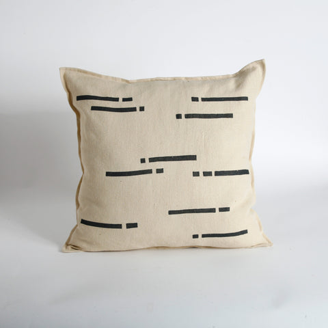 'Lluvia' Block Printed Linen Accent Pillow Cover