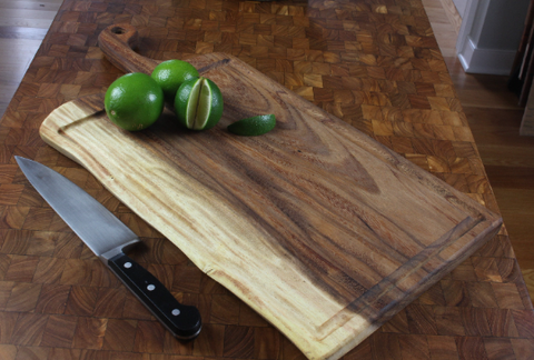 Extra Large Live Edge Cutting Board with Juice Groove