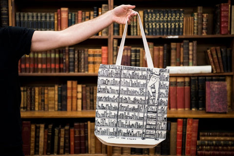 The Strand tote bag has become well-known since the 1980s.