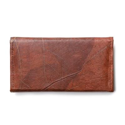 Handmade eco-friendly leaf leather wallet from Tree Tribe