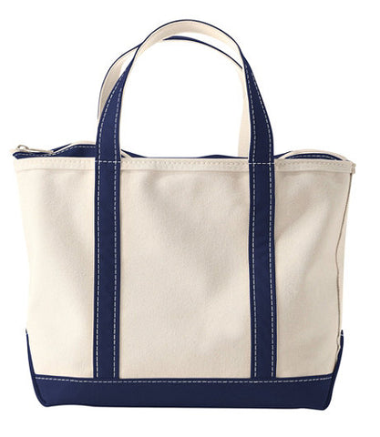 LL Bean Boat and Tote Bag with Zip Top