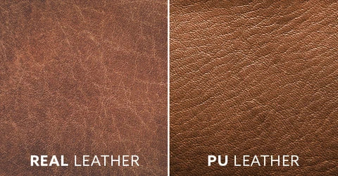 PU Leather maintains its appearance while Real Leather Softens and Wears