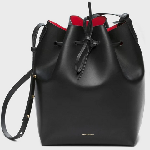 Although bucket bags have gone through many redesigns and transformations, their namesake characteristics are still a favorite.