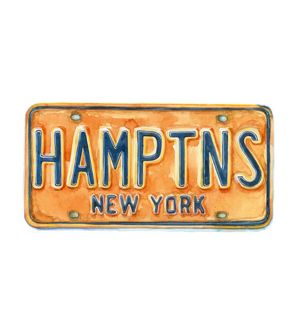 HAMPTONS LICENSE PLATE