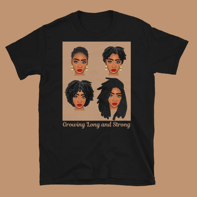 Love My Locs: Length Check Tee- Growing Long and Strong