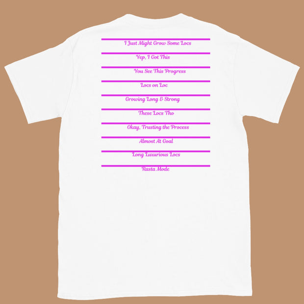 Trust The Process Length Check Tee Pink For Locs