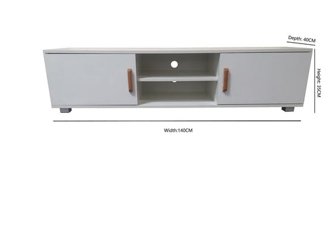 High Gloss White Colour TV Unit/ Cabinet /TV Stand - Brand New EH4033